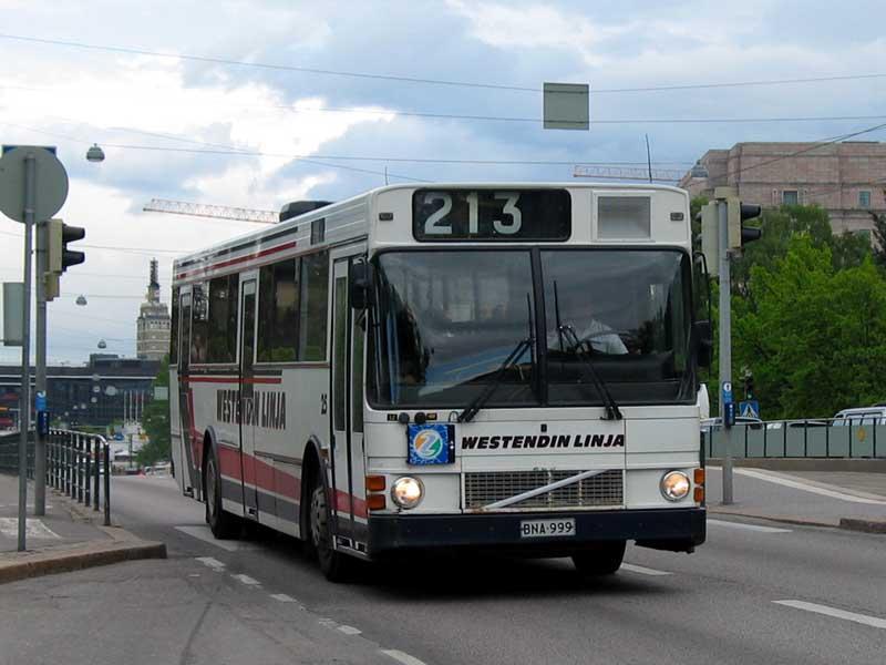 Pääkaupunkiseudun bussikuvasto - Westendin Linja 3, 13 - 15, 25, 28
